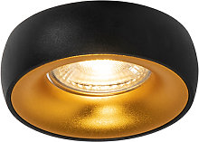 Foco empotrado diseño negro/oro - MOONING