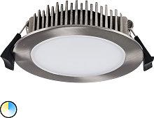Foco empotrado LED Lino 3.000K-5.700K 13 W níquel