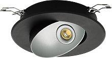 Foco empotrado LED Ronzano 1 negro-plata
