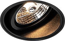 Foco empotrado moderno negro sin marco - IMPACT 70