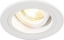 Foco empotrado redondo blanco orientable - CHUCK