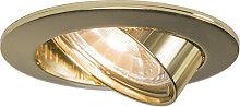 Foco empotrado redondo orientable oro - EDU