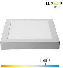 Foco ilumin 20w 1500lm 6400k 22,5x22x4cm downlight