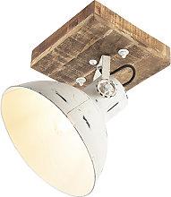 Foco industrial blanco madera 30cm - MANGOES