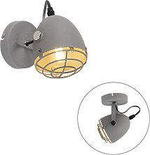 Foco industrial gris hormigón orientable 1-luz -