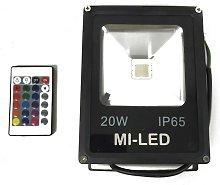 Foco Led 20W para exterior RGB