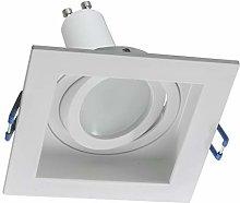 Foco LED 8 W orientable empotrado 90 mm cuadrado