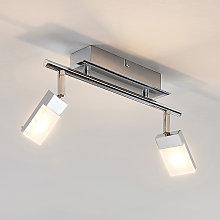 Foco LED Alija, cromo, 2 focos