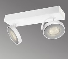 Foco LED Clockwork de 2 brazos en color blanco