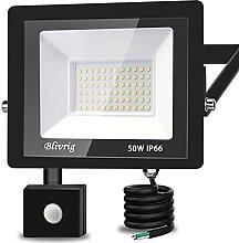 Foco LED con Sensor de Movimiento,Blivrig 50W