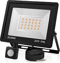 Foco LED de 20W con sensor de movimiento, luz de
