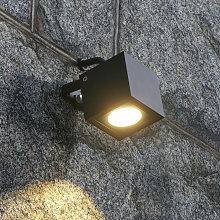 Foco LED de exterior Mariana angular, gris grafito