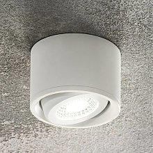 Foco LED de techo Anzio con cabezal orientable bla