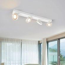 Foco LED de techo Clockwork en blanco