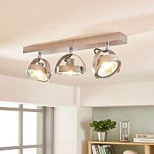 Foco LED de techo Lieven en aluminio, tres brazos