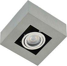 Foco LED de techo Vince de aluminio, gris plata