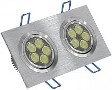 Foco LED doble 12W 3000K rectangular aluminio