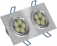 Foco LED doble 12W 6000K rectangular aluminio
