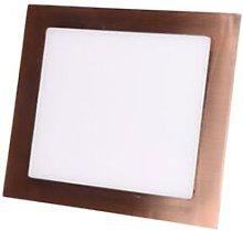Foco led empotrable cobre cuadrado 6W 6000K luz