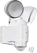 Foco LED exterior Casabas batería 2 luces blanco