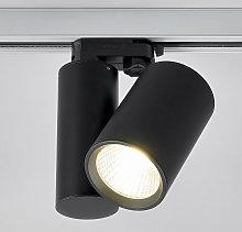 Foco LED Giol negro para rieles de iluminación