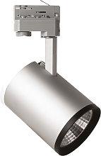 Foco LED Marco para riel trifásico, plata, 3.000K