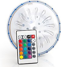 Foco LED multicolor con mando piscina