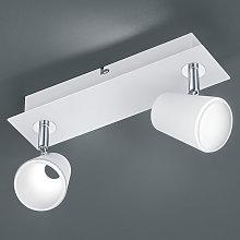 Foco LED Narcos blanco cromado, 2 brazos