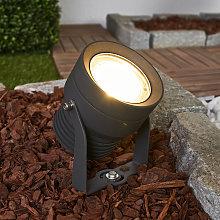 Foco LED para exterior Irina en gris oscuro