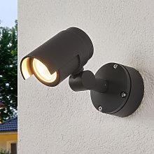 Foco LED para exteriores Beatrix, gris oscuro