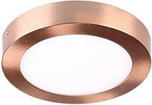 Foco led redondo superficie color cobre 12w 6000k
