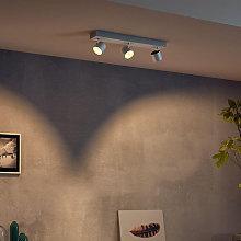 Foco LED Star 3 brazos, warmglow, blanco