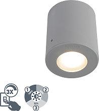 Foco moderno gris IP55 GU10 - FRANCA