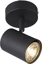 Foco moderno negro inclinable - JEANA 1