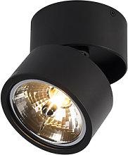 Foco moderno negro orientable - GO Nine Tubo