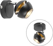 Foco moderno negro/oro 1-luz- BUELL DELUXE