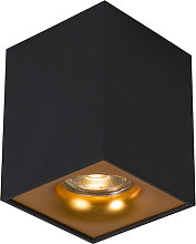 Foco moderno negro/oro - QUBA DELUX