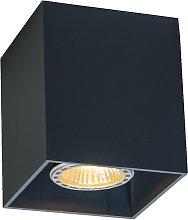 Foco moderno negro - QUBO 1