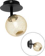 Foco negro dorado ajustable - ATHENS Wire