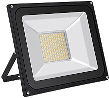 Foco proyector LED 100W para exteriores, Blanco