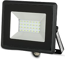 Foco Proyector Led 20w Smd Serie E Cuerpo Negro