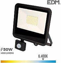 Foco proyector led 50w 6400k con sensor de