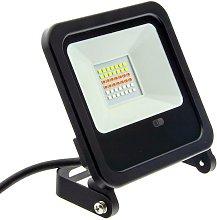 Foco proyector LED RGB 30W IP65 con mando 24
