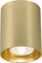 Foco redondo oro - TUBO 1
