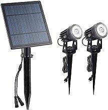 Foco solar, lámpara solar para césped, para uso