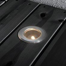 Foco suelo mini, básico 3 acero inoxidable 7cm, G4