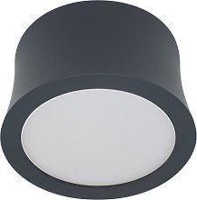 Foco superficie 7,2 cm Ø luz cálida negro GOWER