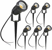 Focos LED para exteriores, 3 W, luces blancas