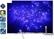 Fomax Guirnalda LED Azul con 80 10-Flash-8 m