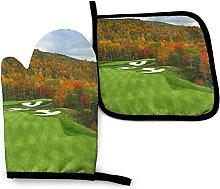 Forest Golf - Juego de Manoplas para Horno y Porta